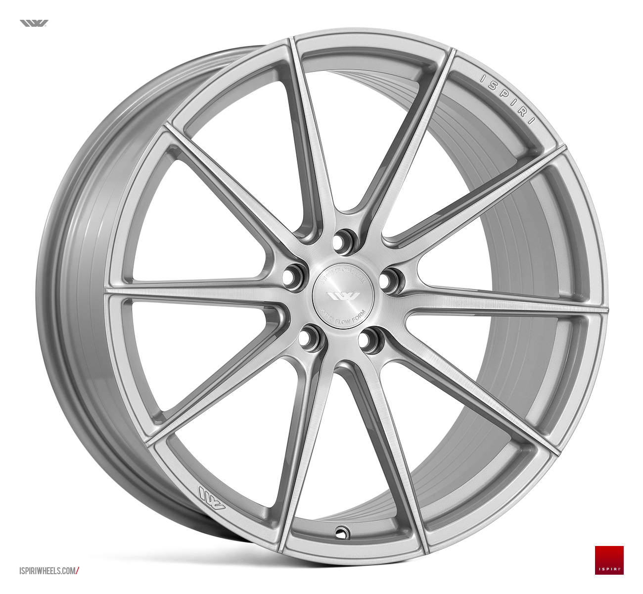 "NEW 19"" ISPIRI FFR1 MULTI-SPOKE ALLOY WHEELS IN PURE SILVER WITH BRUSHED POLISH FACE, DEEPER CONCAVE 10"" REARS"